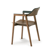 TEN Armchair Wooden Back (wooden seat)