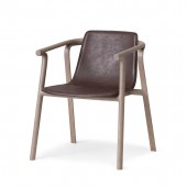SPLINTER Armchair (saddle leather seat)