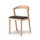 KIILA Stacking Chair (upholstered seat)