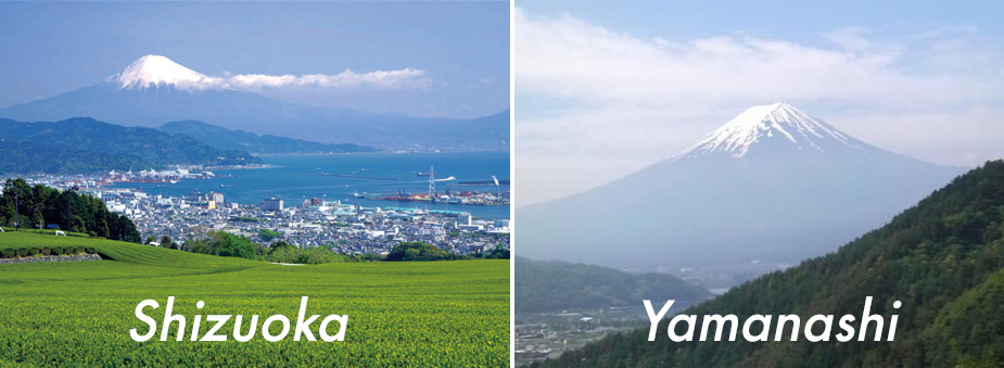 The best position to see Mt. Fuji
